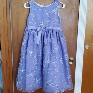 Big girls formal dress embroidery flower girl